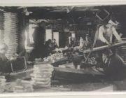 木地職人の50年前の写真。